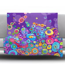 Inner Circle by Catherine Holcombe Fleece Throw Blanket