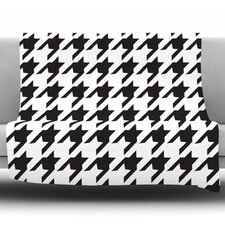 Spacey Houndstooth by Empire Ruhl Fleece Throw Blanket
