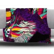 Color Husky by Danny Ivan Fleece Throw Blanket