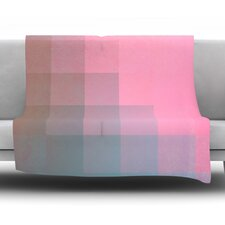 Girly Pixel Surface by Danny Ivan Fleece Throw Blanket