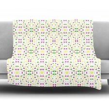Neon Triangles by Empire Ruhl Fleece Throw Blanket