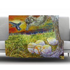 Ostrich by David Joyner Fleece Throw Blanket
