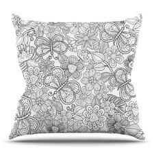 My Butterflies and Flowers Throw Pillow