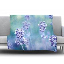 Lavender Dream Fleece Throw Blanket