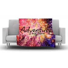 Adventure is Out There Fleece Throw Blanket