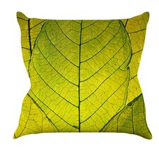 Every Leaf a Flower Throw Pillow