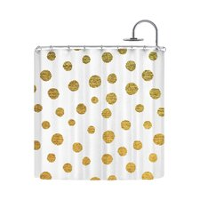 Golden Dots by Nika Martinez Shower Curtain