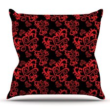 Sweetheart Damask by Mydeas Throw Pillow