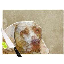 Abstract Dog by Ancello Cutting Board