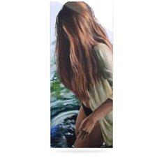 Knee Deep Painting Print Plaque