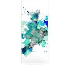 A Cardinal in Blue Graphic Art Plaque