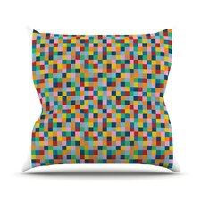 Color Blocks Outdoor Throw Pillow
