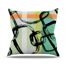 Sixties Stripe Throw Pillow