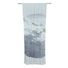 Feathers by Suzanne Carter Sheer Curtain Panel (Set of 2)