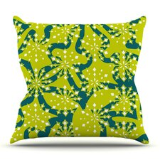Festive Splash by Miranda Mol Outdoor Throw Pillow