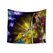 Fairy Tale off to Neverland by Mandie Manzano Wall Tapestry