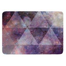 Geometric stars by Suzanne Carter Bath Mat