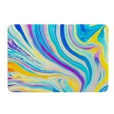 Rainbow Swirl by Ingrid Beddoes Bath Mat