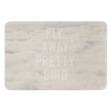 Fly Away Pretty Bird by Catherine McDonald Bath Mat