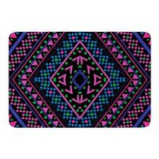 Neon Pattern by Nika Martinez Bath Mat