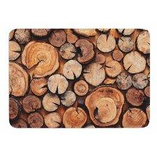 Rustic Wood Logs by Susan Sanders Bath Mat