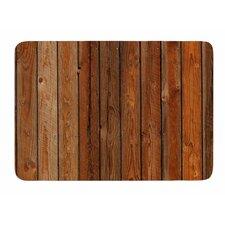 Rustic Wood Wall by Susan Sanders Bath Mat
