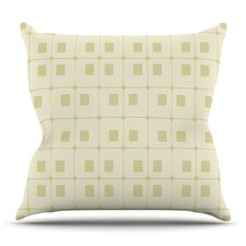 Squares in Square by Fotios Pavlopoulos Outdoor Throw Pillow