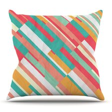 Droplines by Danny Ivan Outdoor Throw Pillow