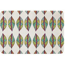 Tribal Leaves by Pom Graphic Design Bath Mat