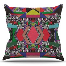 African Motif by Vasare Nar Outdoor Throw Pillow