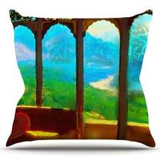 Mountain Retreat by S. Seema Z Outdoor Throw Pillow