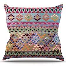 Tribal Native by Nika Martinez Outdoor Throw Pillow