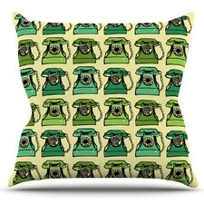 Grandma's Telephone by Holly Helgeson Outdoor Throw Pillow