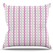 Plum Pod by Julie Hamilton Outdoor Throw Pillow