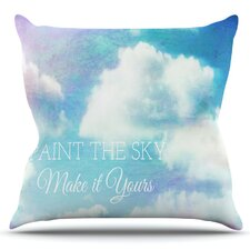 Paint the Sky! by Alison Coxon Outdoor Throw Pillow
