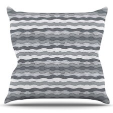 51 Shades of Gray by Empire Ruhl Outdoor Throw Pillow