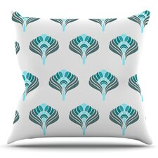 Peacock by KESS InHouse Outdoor Throw Pillow