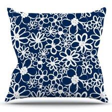 Daisy Lane by Emine Ortega Outdoor Throw Pillow