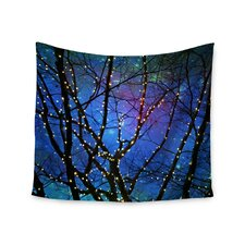 """Holiday Lights"" by Sylvia Cook Wall Tapestry"