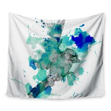 A Cardinal In Blue by Kira Crees Wall Tapestry