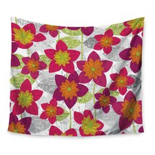Star Flower by Jacqueline Milton Wall Tapestry