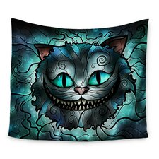 Mad Chesire by Mandie Manzano Wall Tapestry