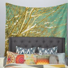 Snow Covered Twigs by Iris Lehnhardt Wall Tapestry
