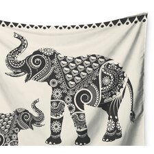 Ornate Indian Elephant-Boho by Famenxt Wall Tapestry