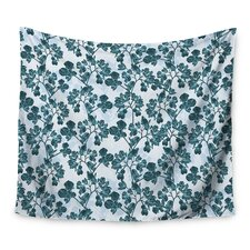 Green Flowers by Julia Grifol Wall Tapestry