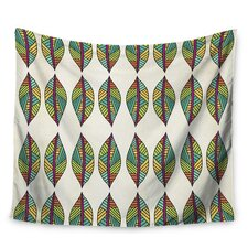 Tribal Leaves by Pom Graphic Design Wall Tapestry