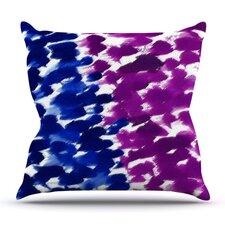 Fleeting Blue by Emine Ortega Outdoor Throw Pillow