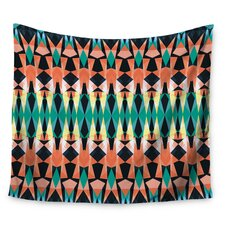 Triangle Visions by Akwaflorell Wall Tapestry