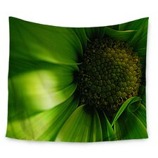 Green Flower by Robin Dickinson Wall Tapestry