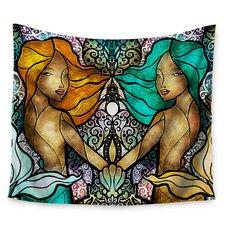 Mermaid Twins by Mandie Manzano Wall Tapestry